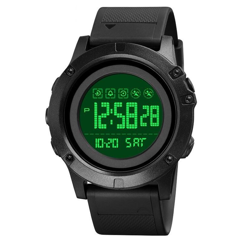 Reloj Q&Q Digital Buceo Unisex Cronómetro Mod: Militar Quarzo – Negro